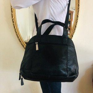 Giani Bernini black leather purse, organizer bag